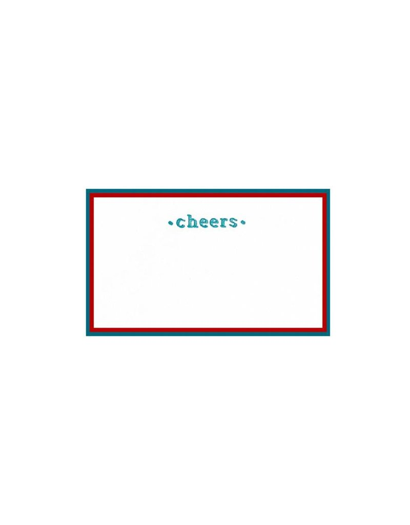 Oblation Papers & Press painted edge cards - cheers