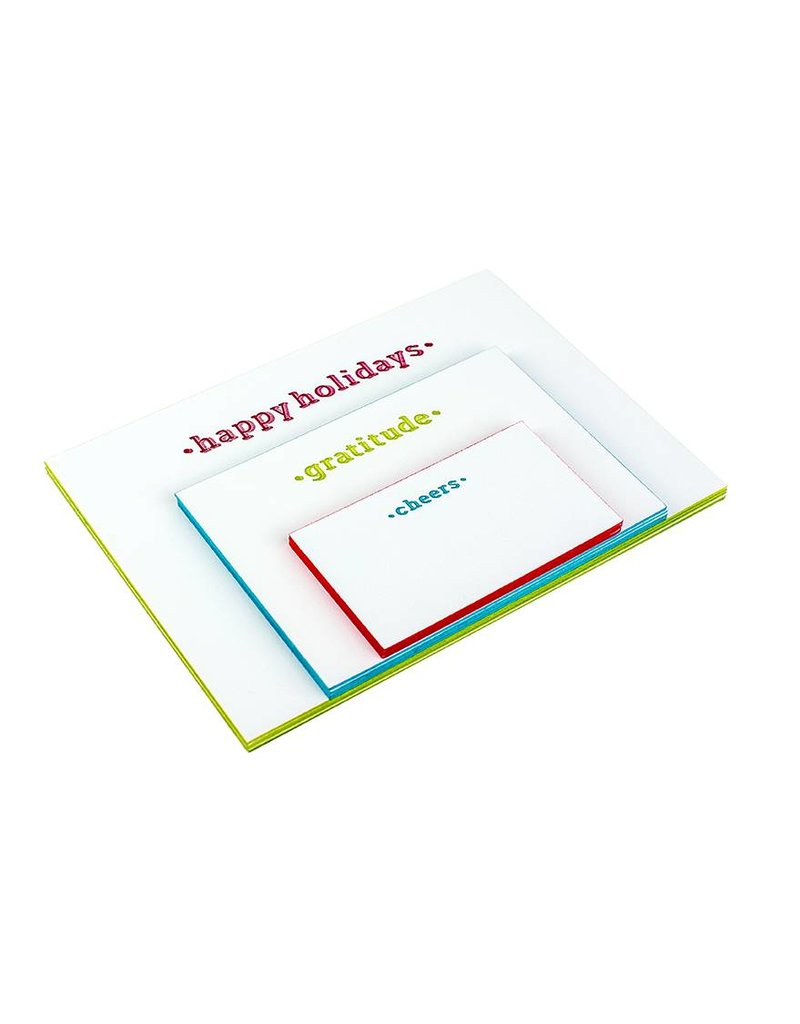 Oblation Papers & Press Happy Holidays Painted Edge Card