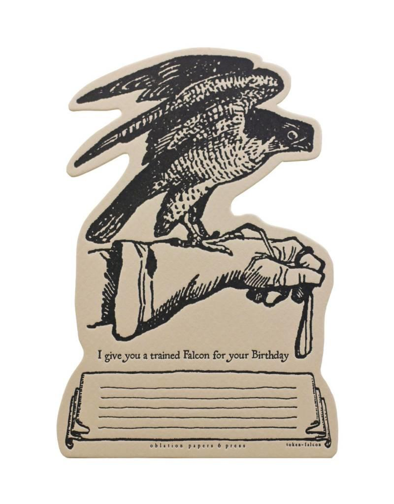 Oblation Papers & Press tokens - falcon