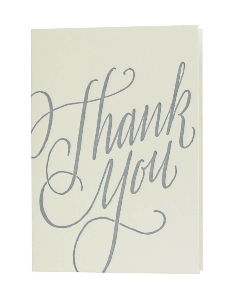 Oblation Papers & Press thank you notes - calligraphy