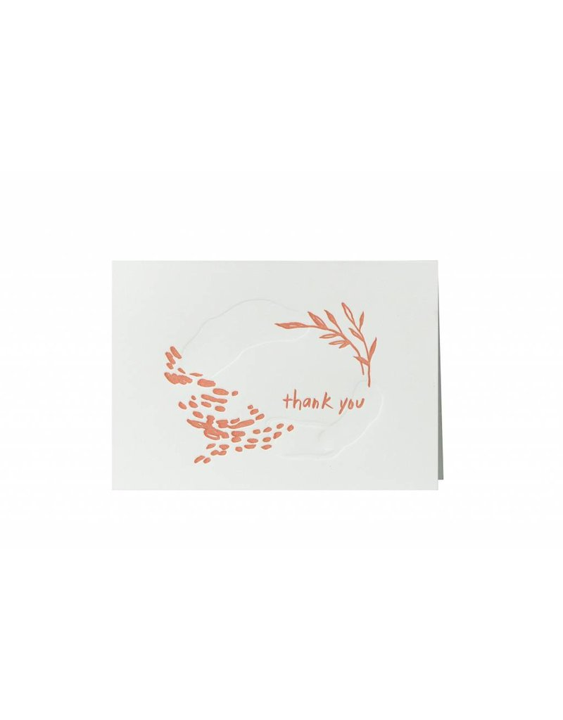 Oblation Papers & Press thank you notes - coral