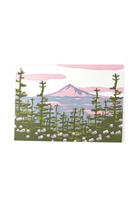Oblation Papers & Press Mt. Hood Woodblock Print Card