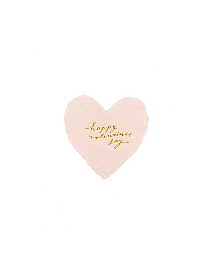 Oblation Papers & Press Happy Valentine's Day foiled handmade petite heart in blush