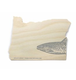 Oblation Papers & Press Die-Cut Birch Veneer Oregon Salmon