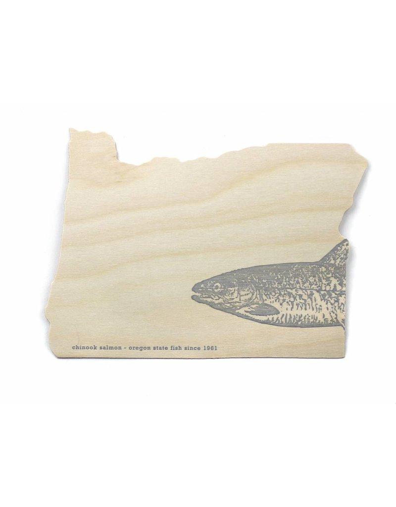Oblation Papers & Press Die-Cut Birch Veneer Oregon Salmon