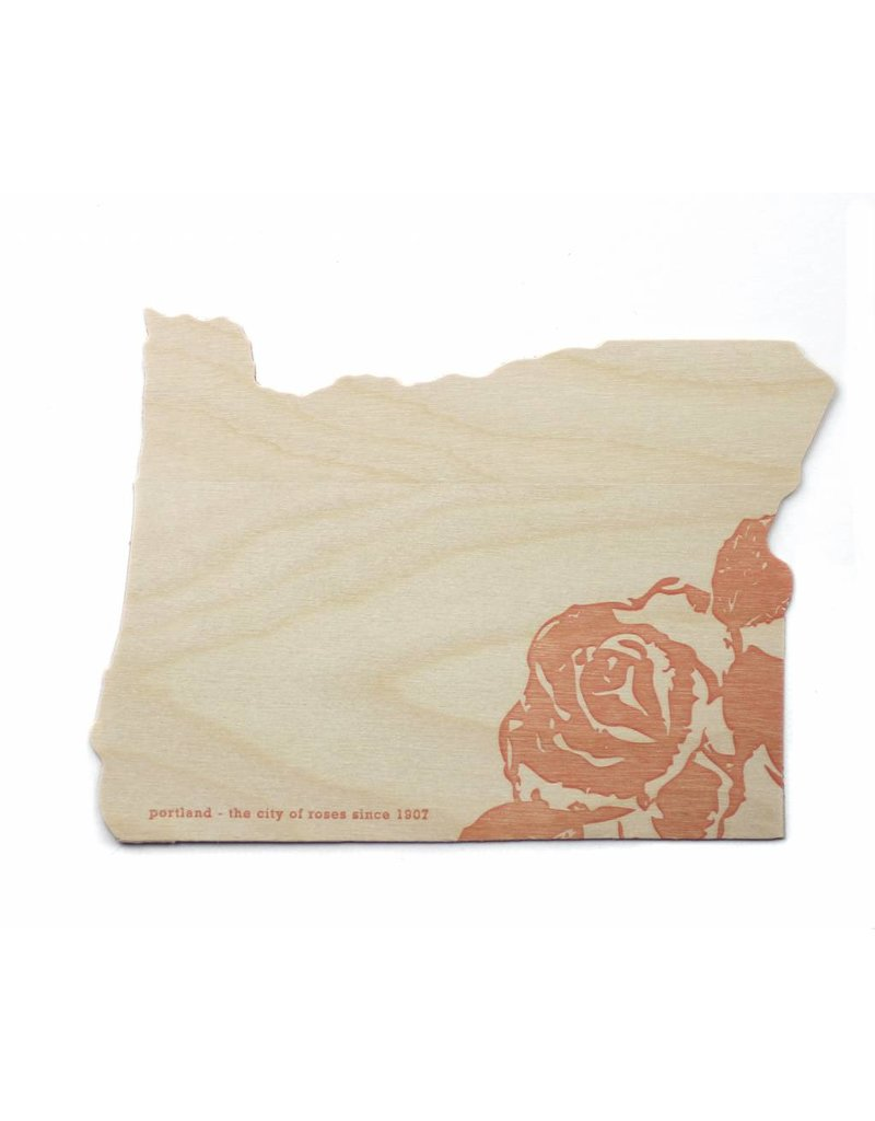 Oblation Papers & Press Die-Cut Birch Veneer Oregon Rose