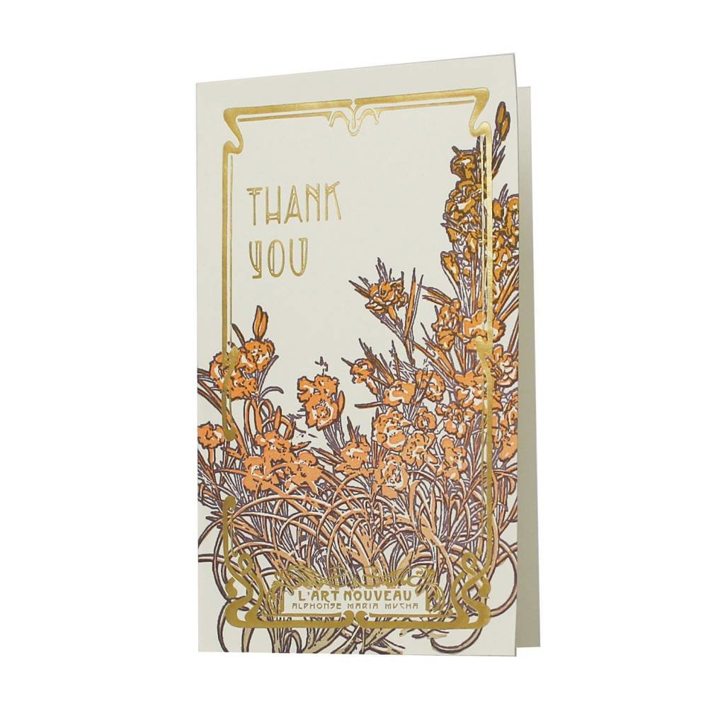 Oblation Papers & Press Art Nouveau Thank You