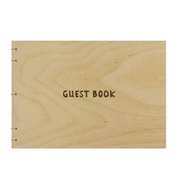 Oblation Papers & Press Hand-bound Guest Book Birch