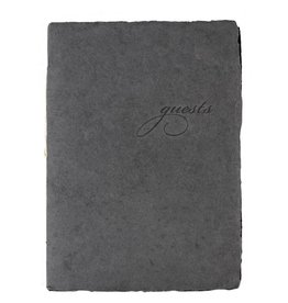 Oblation Papers & Press Handmade Paper Guest Booklet Charcoal