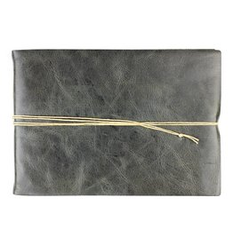 Oblation Papers & Press Hand-bound Leather Guest Book - Smoke
