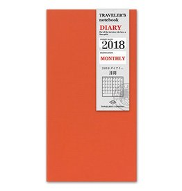Traveler's Company Refill 2018 Monthly