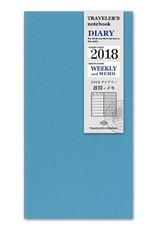 Traveler's Company traveler's company - weekly + memo refill - 2018 diary