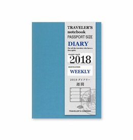 Traveler's Company Passport Size Refill 2018 Weekly