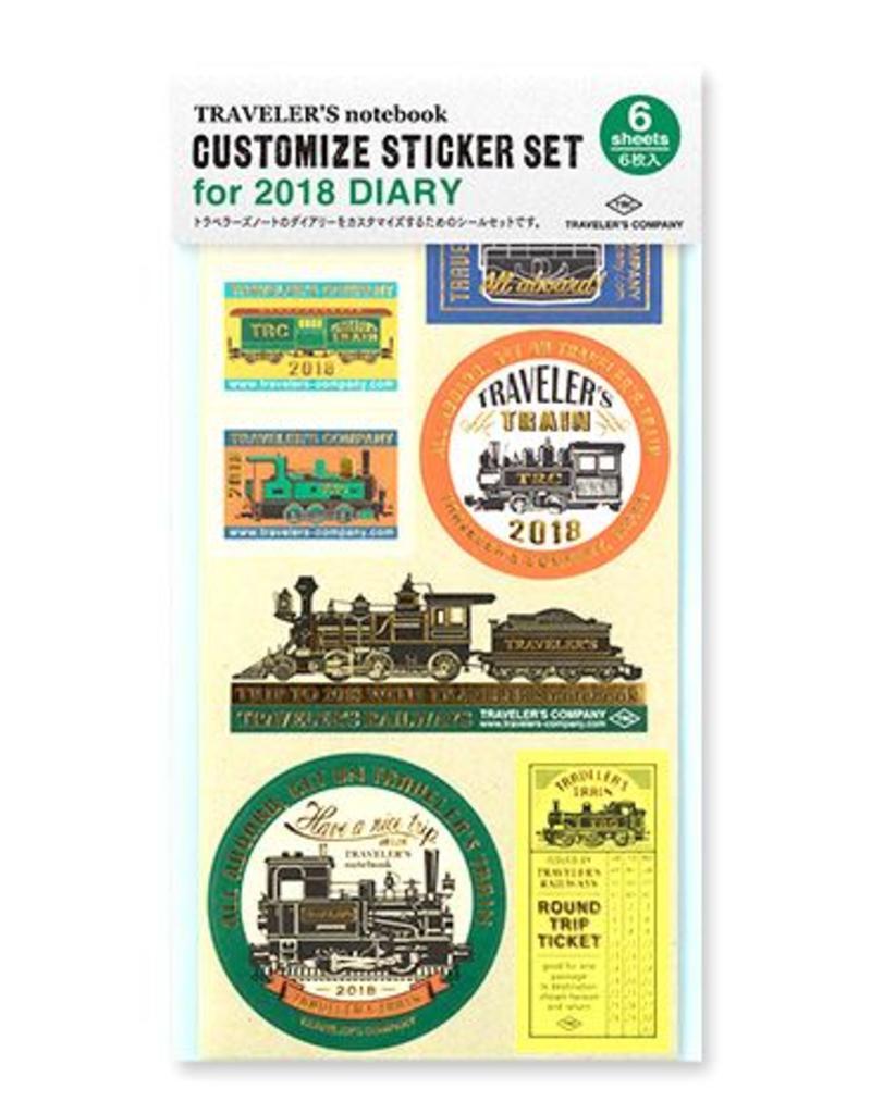 Traveler's Company traveler's company - customize sticker - 2018 diary