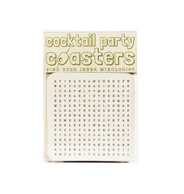 Hat + Wig + Glove Cocktail Party Coasters Word Search