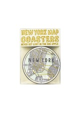 Hat + Wig + Glove New York Map Coasters