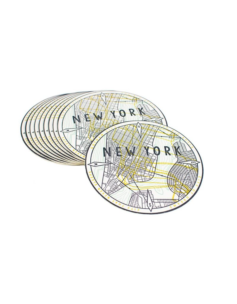 HWG New York Map Coasters