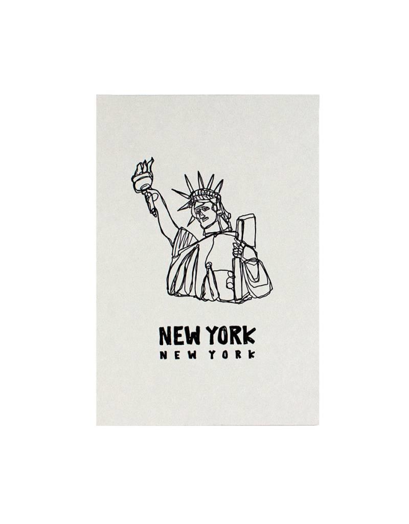 HWG statue of  liberty postcard