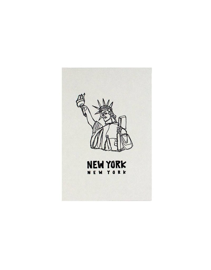 HWG statue of  liberty postcard