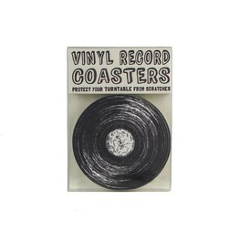 Hat + Wig + Glove Vinyl Record Coasters