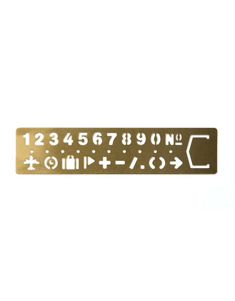 Traveler's Company traveler's company - brass numbers template bookmark