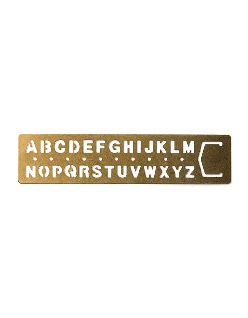 Traveler S Company Brass Alphabet Template Bookmark Oblation