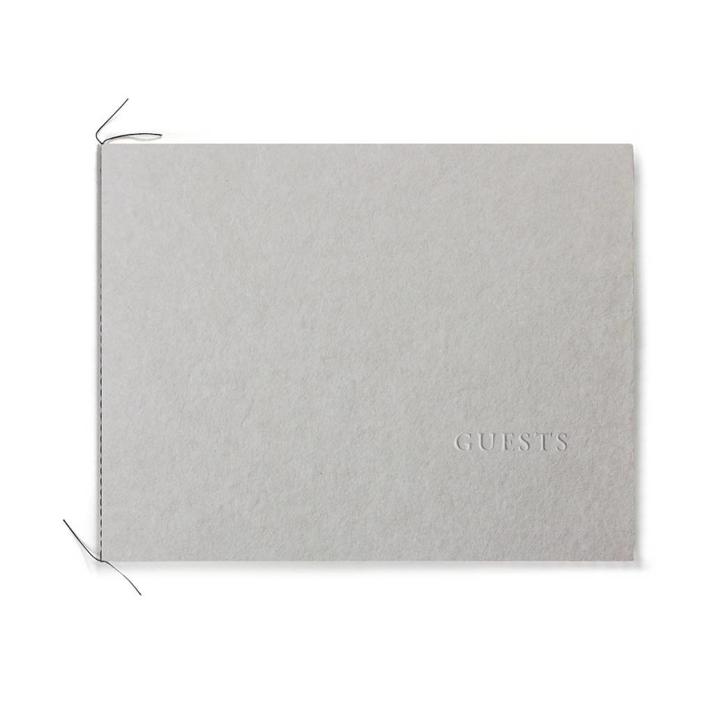 Oblation Papers & Press Handmade Paper Guest Book Stone