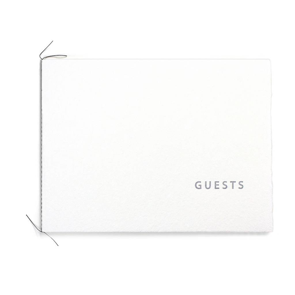 Oblation Papers & Press Handmade Paper Guest Book White