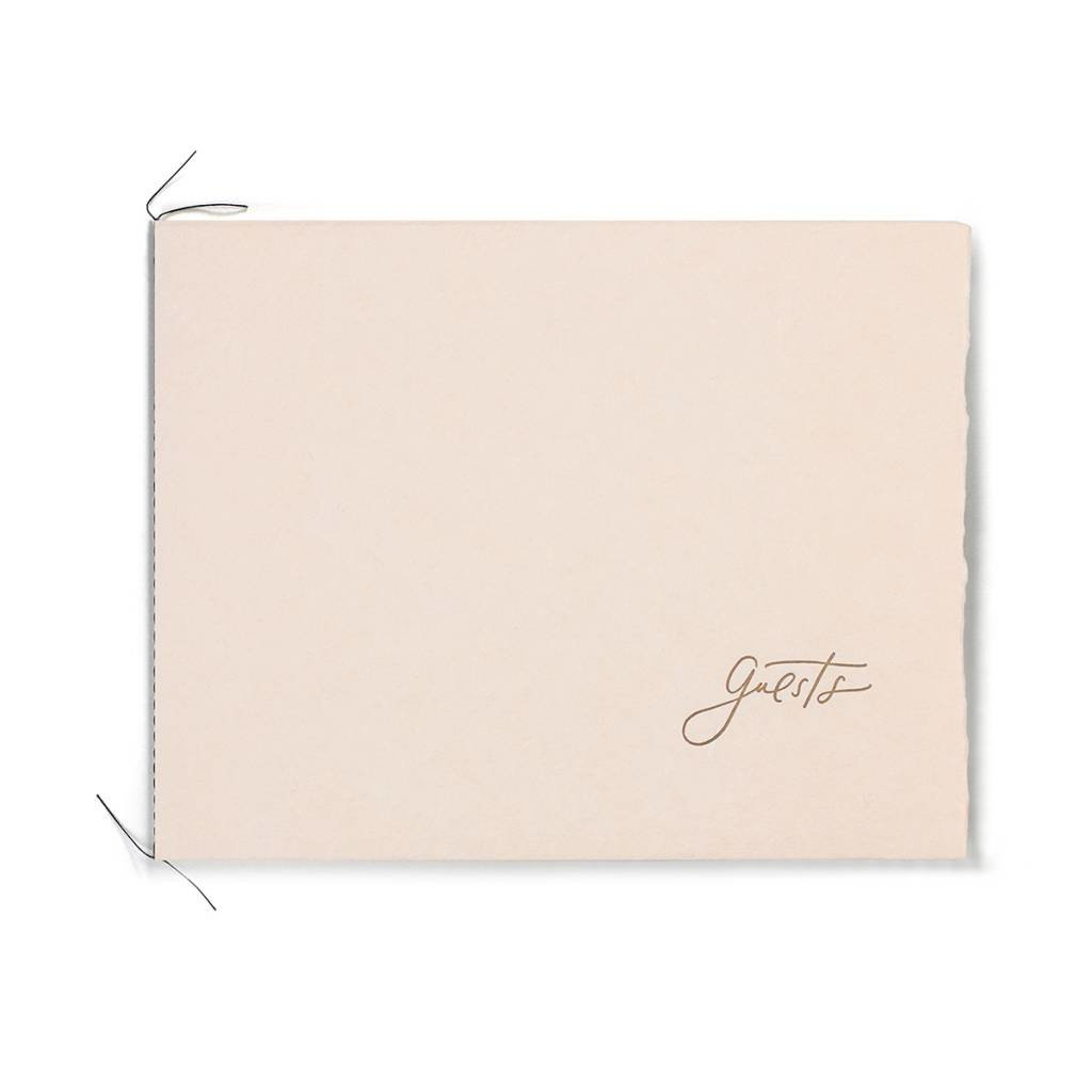 Oblation Papers & Press Handmade Paper Guest Book Blush