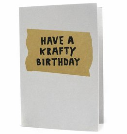 Hat + Wig + Glove Have a Krafty Birthday letterpress card