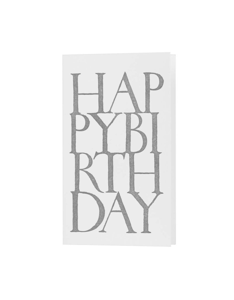 Oblation Papers & Press Happy Birthday Stonecarved Greeting Grey