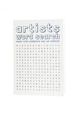 HWG Artists word search card