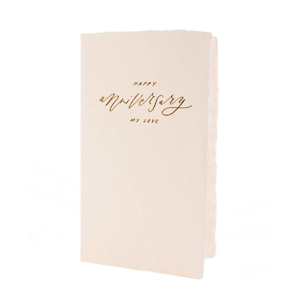 Oblation Papers & Press Happy Anniversary My Love Calligraphy Note