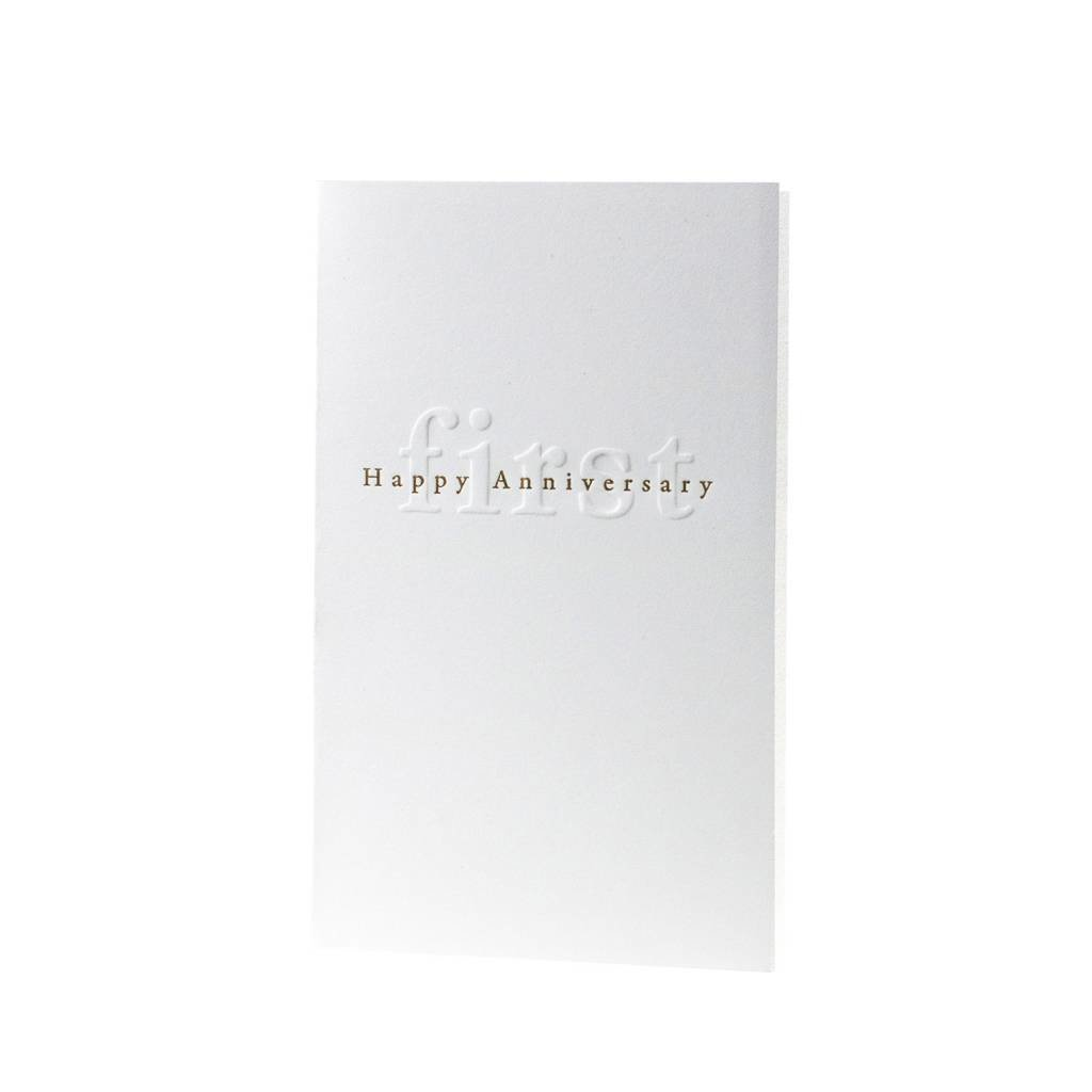 Oblation Papers & Press Gilded Age Happy First Anniversary Card