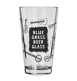 Hat + Wig + Glove Blue grass beer glass