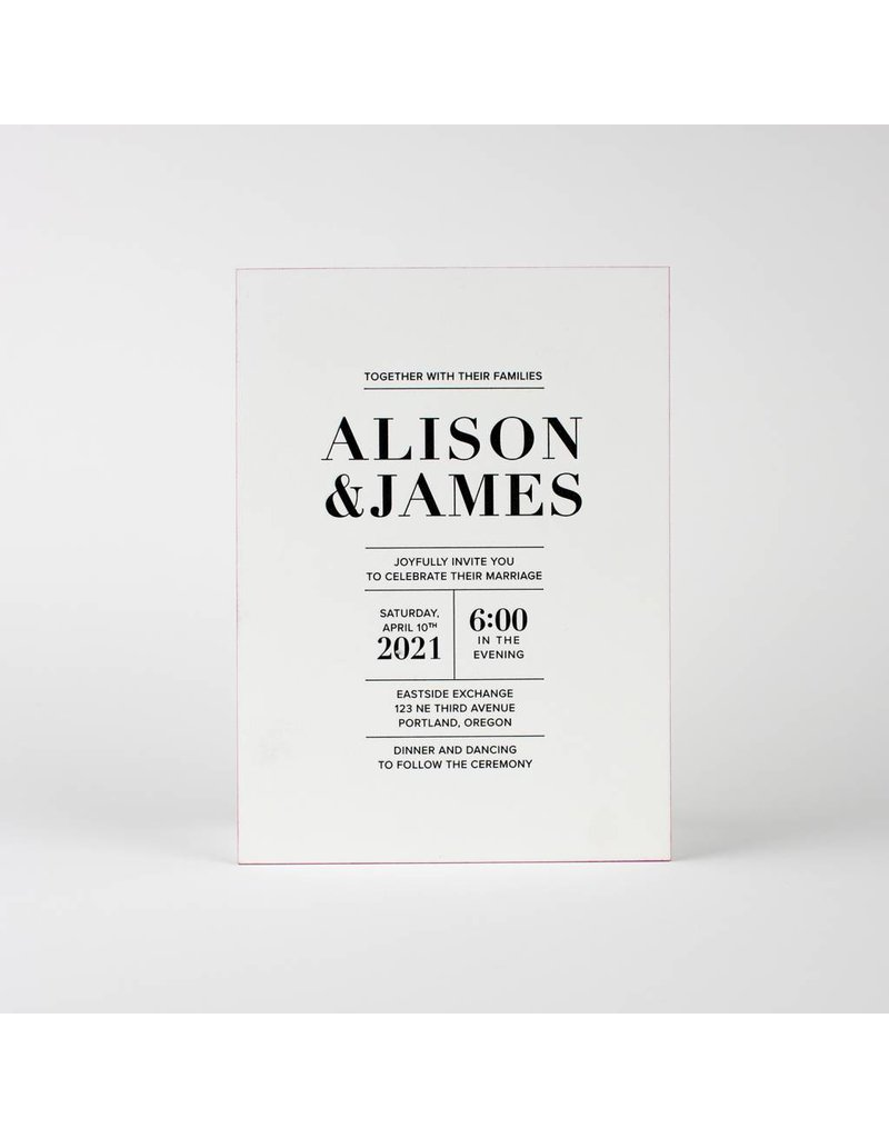 Oblation Papers & Press Alison Invitation