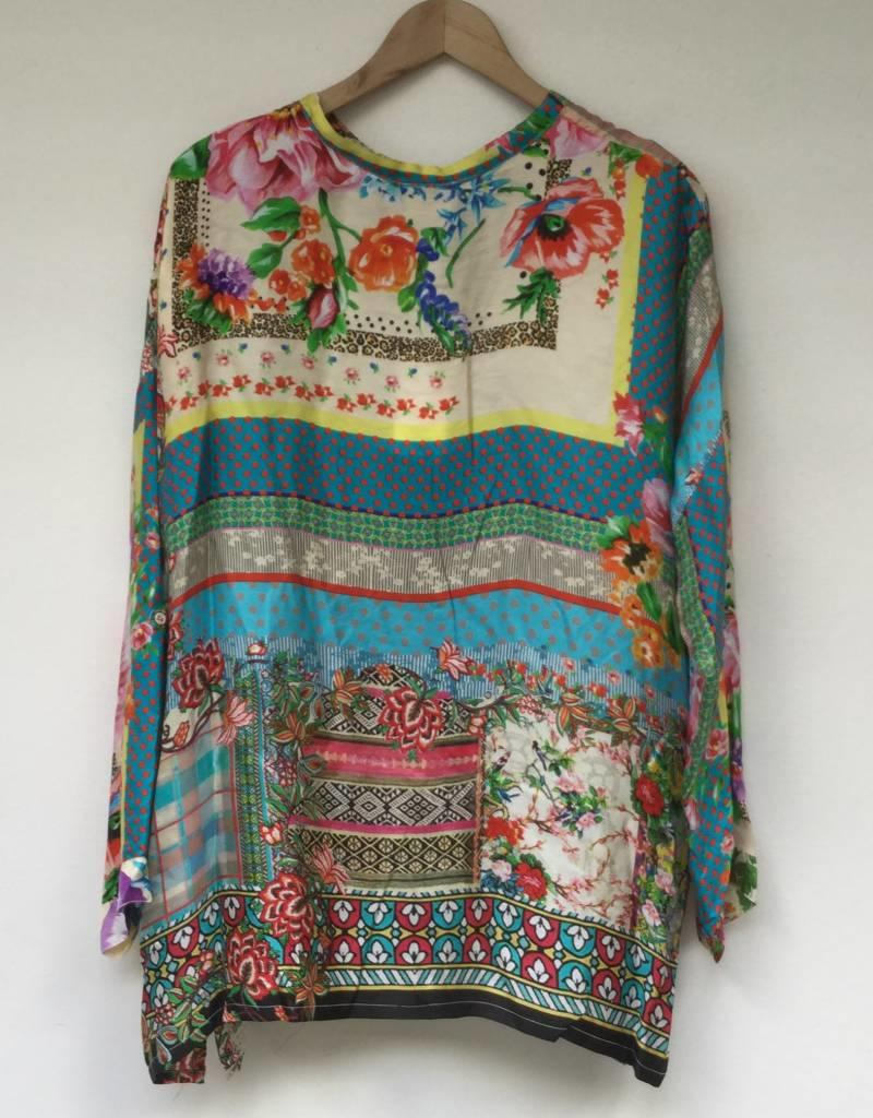 JOHNNY WAS RESORT BOXY BUTTON TOP