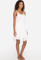 SALE - JOHNNY WAS MIXED EYELET DRESS WHITE