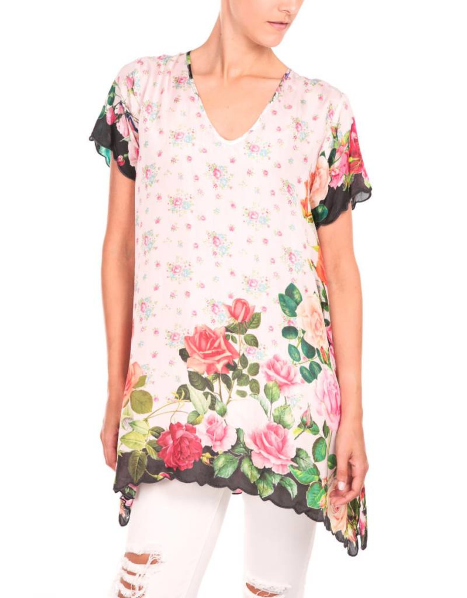 SALE - JOHNNY WAS ROSES TUNIC