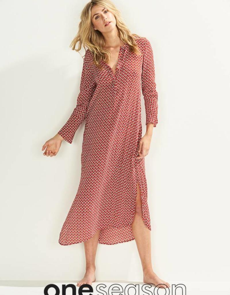 ONESEASON GENIE DRESS CORFU RED EARTH