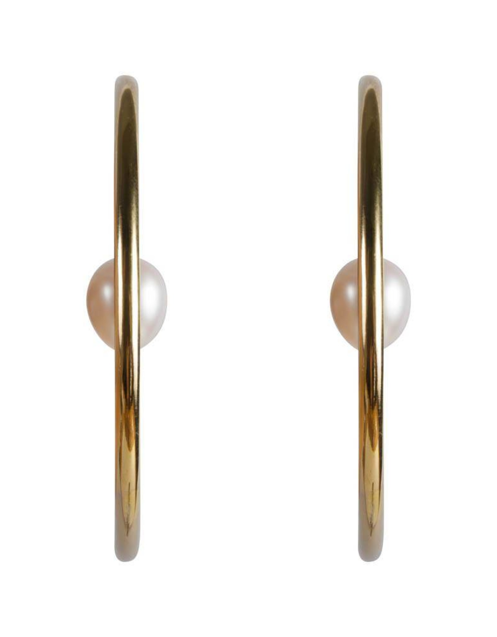 FAIRLEY PEARL ORBIT HOOPS GOLD