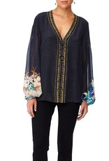 CAMILLA UP ALL NIGHT PEASANT BLOUSE W/FRONT LACING