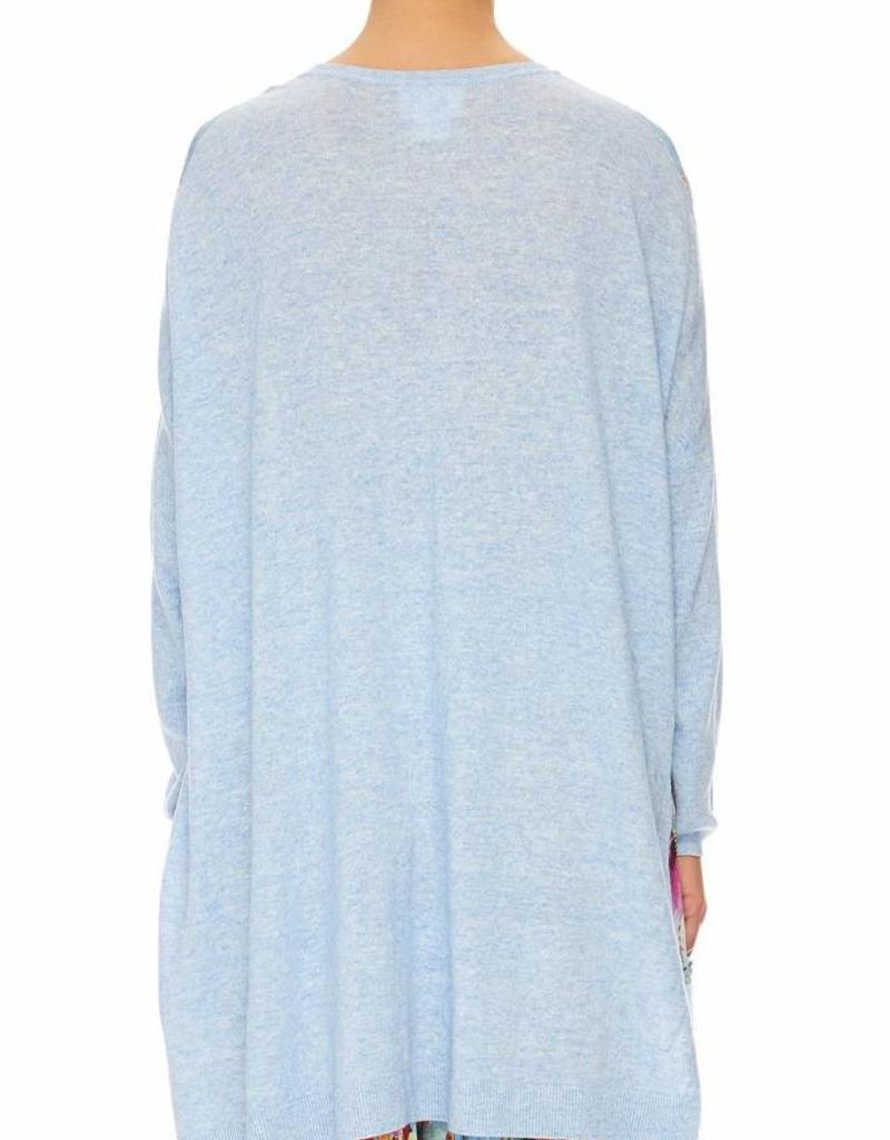 CAMILLA THE STILL ABYSS SILK FRONT BOXY KNIT