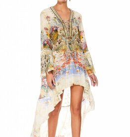 CAMILLA LADY LABYRINTH SHORT DRESS W/ HIGH LOW HEM