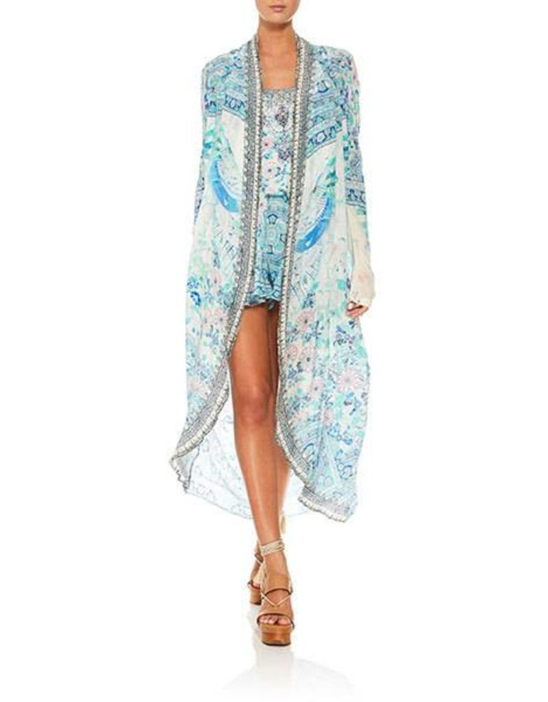 CAMILLA HEAD IN THE CLOUDS LONG CASUAL JACKET W/ POCKETS