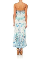 CAMILLA HEAD IN THE CLOUDS LONG DRESS W/ TIE FRONT