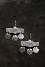EWA SILVER CHARM EARRINGS