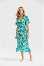 ONESEASON PIPER FRILL WRAP DRESS PUGLIA