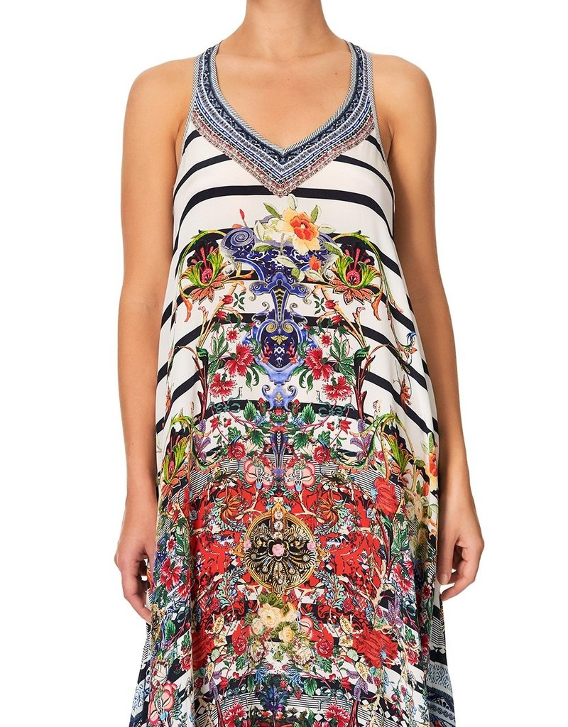 SALE - CAMILLA JOIE DE VIVRE V NECK RACERBACK DRESS
