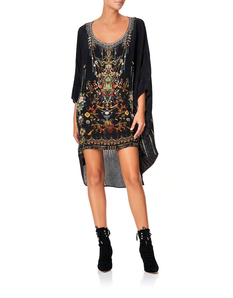 CAMILLA REBELLE REBELLE SCOOP BACK HEM DRESS